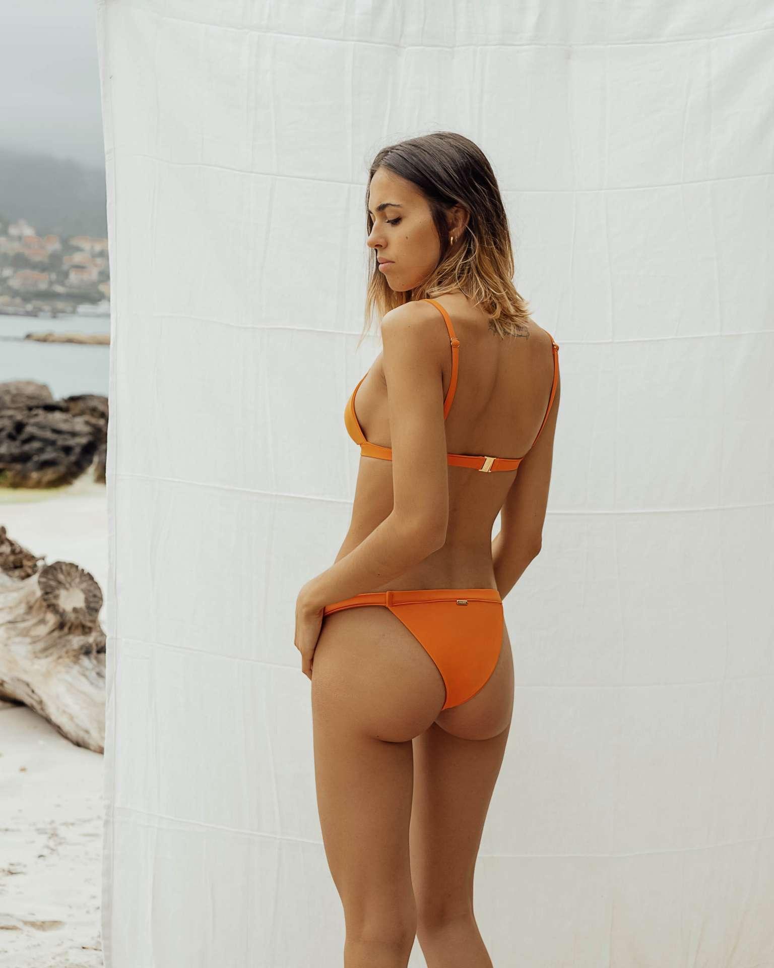 Bikini Maro Naranja de NARE® Swimwear - Vista trasera