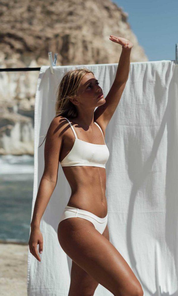 Bikini Falesia Blanco, de NARE® Swimwear