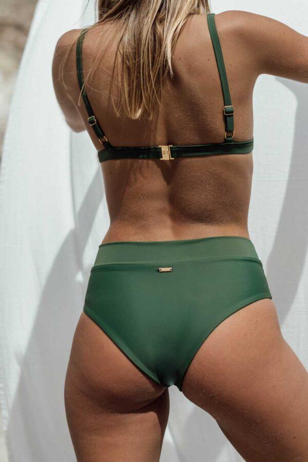 Bikini Nerga Verde de NARE® Swimwear - Vista trasera