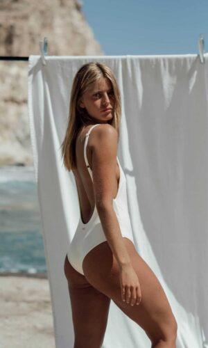 Bañador Roche Blanco de NARE® Swimwear