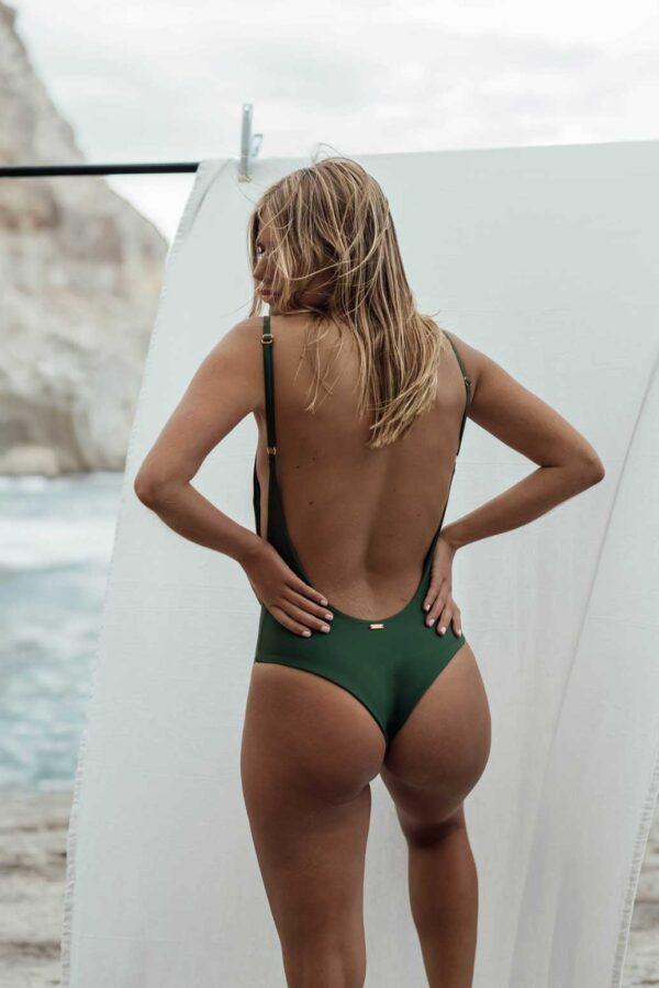 Bañador Roche Verde de NARE® Swimwear - Vista trasera