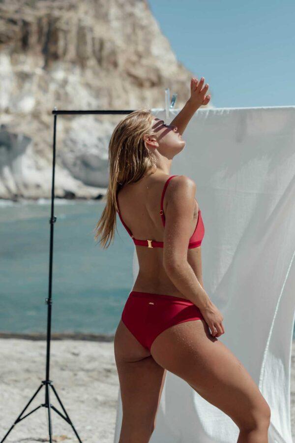 Bikini Falesia Rojo de NARE® Swimwear - Vista trasera